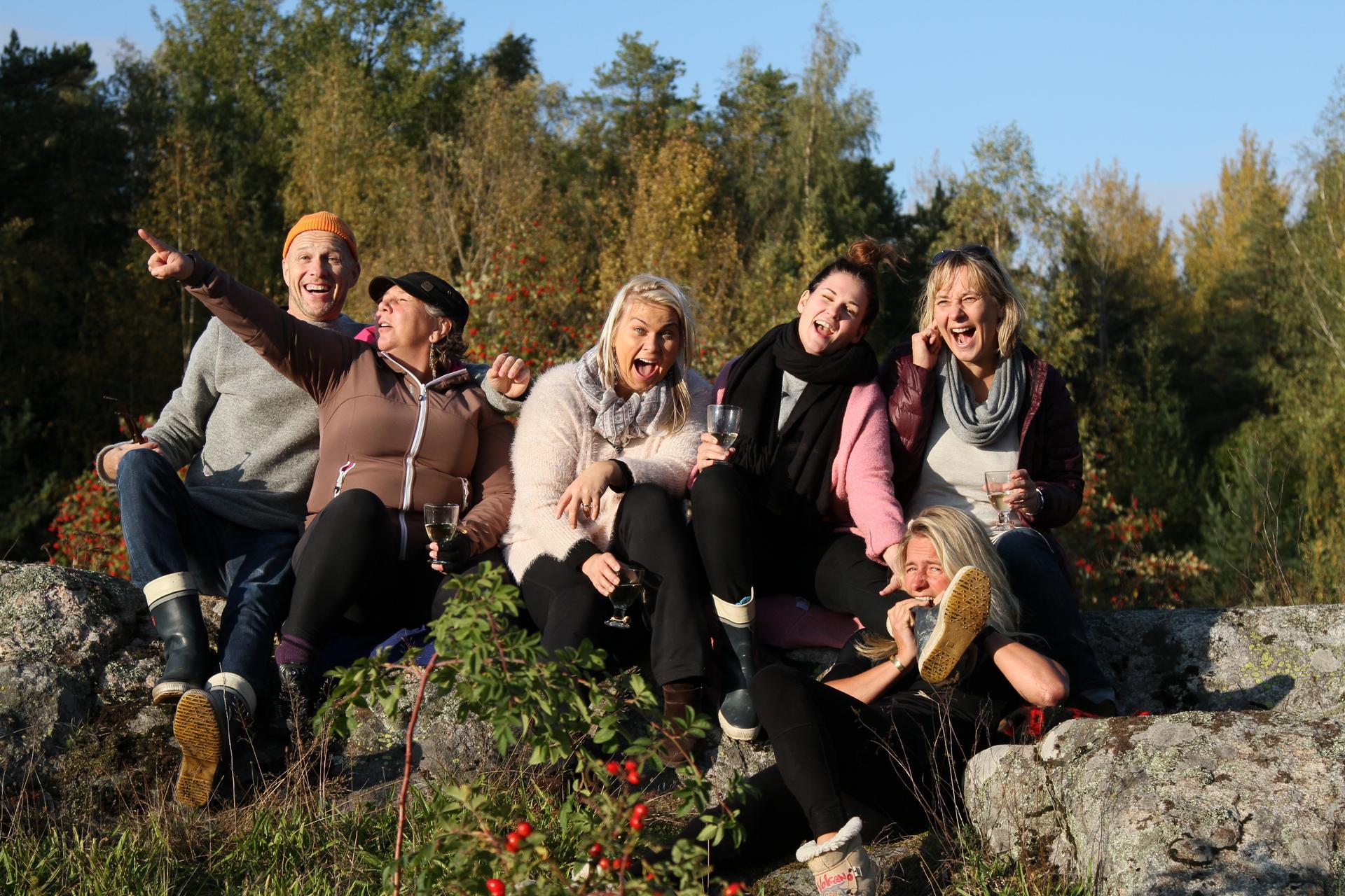 Onze groep bij Jussu in Finland